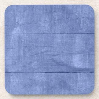 Beautiful Blue Wood Texture Drink Coaster