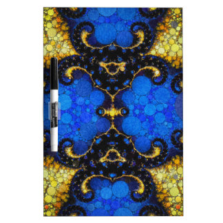 Beautiful Blue Yellow Abstract Dry Erase Board