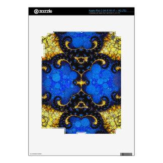 Beautiful Blue Yellow Abstract iPad 3 Decal