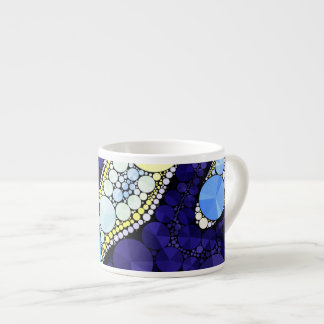 Beautiful Blue Yellow Bling Abstract Espresso Cup