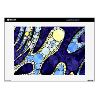 "Beautiful Blue Yellow Bling Abstract Skin For 15"" Laptop"