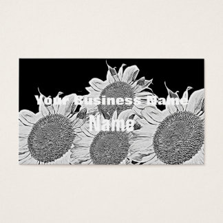 Beautiful Blue Yellow Sunflowers   Business Cards