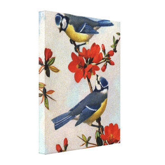 Beautiful Bluebirds Wrapped Canvas Art Canvas Print