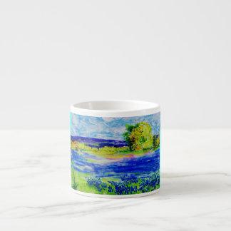 beautiful bluebonnets espresso cup