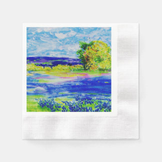 beautiful bluebonnets paper napkin
