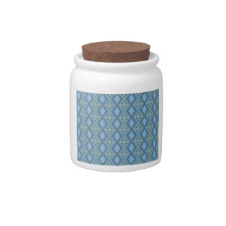 Beautiful Bluish Horizon Sunset Pattern Candy Jar