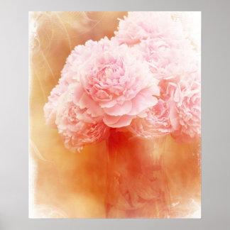 Beautiful Blushing Peony Bouquet Poster