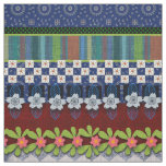 Beautiful Boho Border | Whimsical Floral Design Fabric