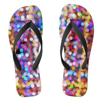 Beautiful Bokeh Flip Flops