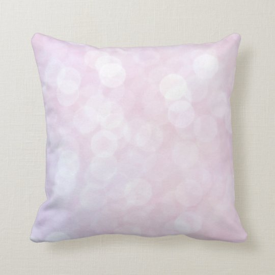 Beautiful Bokeh Pink sparkle/ glitter cushion matt