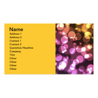 Beautiful bokeh texture Double-Sided standard business cards (Pack of 100)