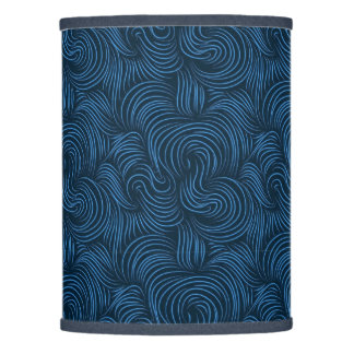 Beautiful bold blue swirls Extra table lamp shade