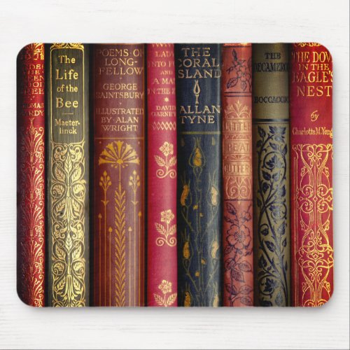 Beautiful Book Spines Mouse Pad