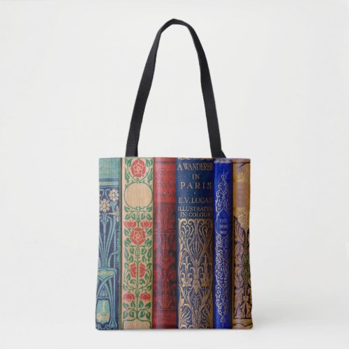 Beautiful Book Spines Tote Bag