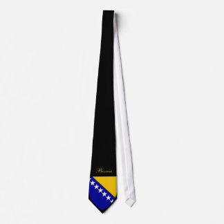 Beautiful Bosnia Herzegovina Flag - Coat Arm Tie