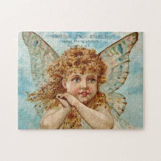 Beautiful Boston Candy Store Angel Puzzle