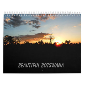 BEAUTIFUL BOTSWANA medium size calendar