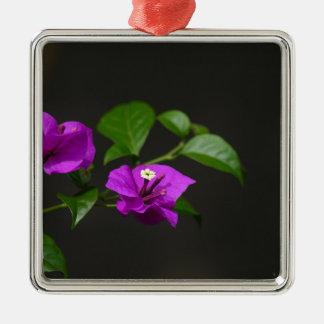 Beautiful bougainvillea flower square metal christmas ornament
