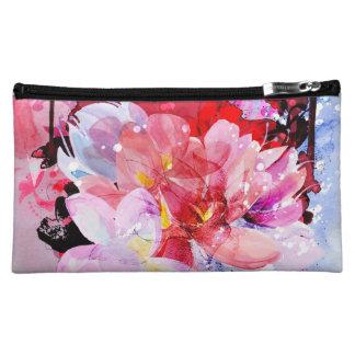 Beautiful bouquet of flowers makeup bag