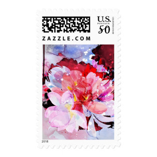 Beautiful bouquet of flowers postage