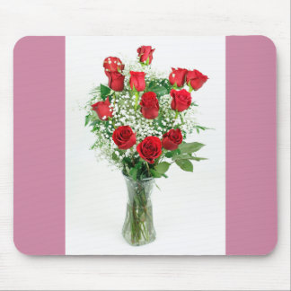 Beautiful Bouquet of Red Roses Mouse Pad