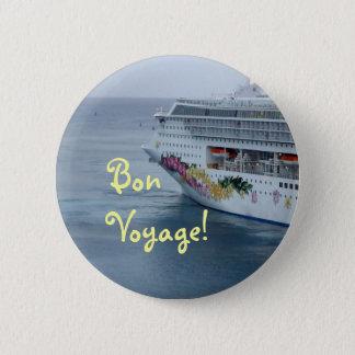 Beautiful Bow Bon Voyage Pinback Button