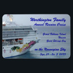 "Beautiful Bow Custom Cruise Magnet<br><div class=""desc"">Customize this premium magnet,  featuring the beautiful bow of a cruise ship,  with your own cruise information.  Use it during your cruise for a cabin door marker,  and you&#39;ll have a fun personalized keepsake afterwards.</div>"