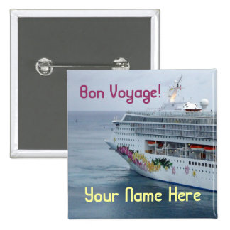 Beautiful Bow Name Tag Pinback Button