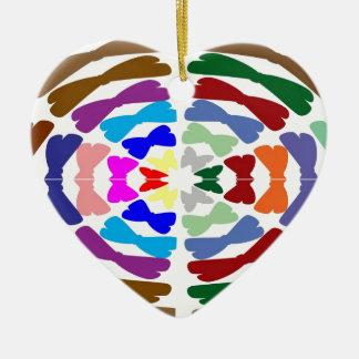 Beautiful Bow Tie Dance -  Enjoy n Share Joy Double-Sided Heart Ceramic Christmas Ornament