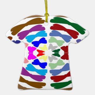 Beautiful Bow Tie Dance -  Enjoy n Share Joy Double-Sided T-Shirt Ceramic Christmas Ornament