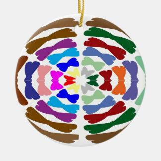 Beautiful Bow Tie Dance -  Enjoy n Share Joy Double-Sided Ceramic Round Christmas Ornament
