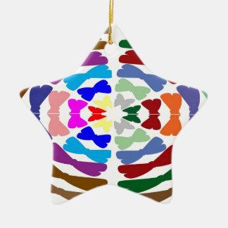 Beautiful Bow Tie Dance -  Enjoy n Share Joy Double-Sided Star Ceramic Christmas Ornament