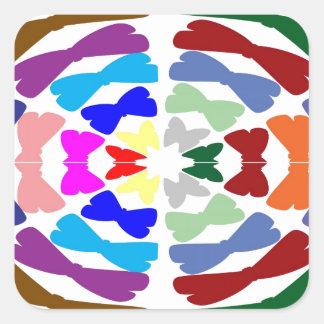 Beautiful Bow Tie Dance -  Enjoy n Share Joy Square Sticker