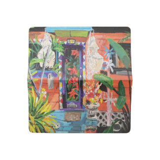 Beautiful Bowling Ball House Check Book Cover
