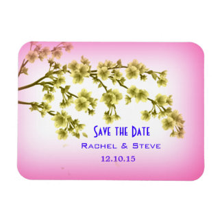 Beautiful Branches Save the Date Wedding Magnet