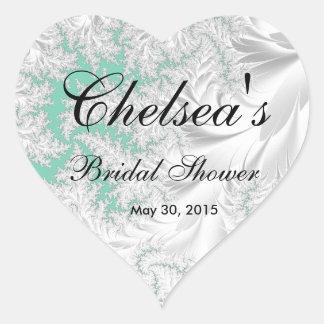 Beautiful Bridal Shower   DIY Background Color Heart Sticker