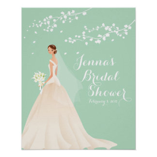 Beautiful Bride Bridal Shower Poster