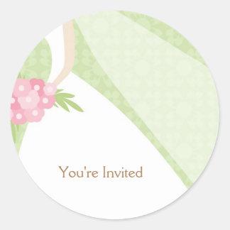 Beautiful Bride - Envelope Seals Classic Round Sticker