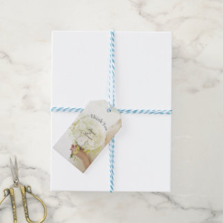 Beautiful bride flower bouquet wedding editable gift tags