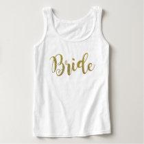 Beautiful Bride Gold Sparkle Glitter Tank Top