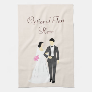 Beautiful Bride & Groom Wedding Hand Towels