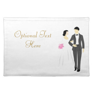 Beautiful Bride & Groom Wedding Placemat