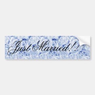 Beautiful Bride in Blue, Rose Bouquet, template Bumper Sticker