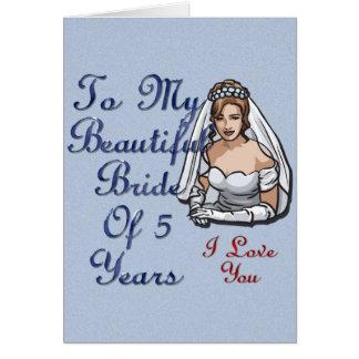 Beautiful Bride Of 5 Years