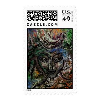 Beautiful Bride Postage Stamp