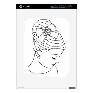 Beautiful Bride Profile Face Decal For iPad 3