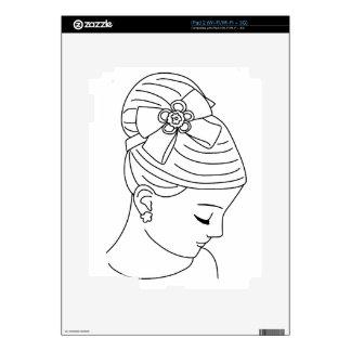 Beautiful Bride Profile Face Skins For The iPad 2
