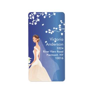 Beautiful Bride Return Address Labels. Label