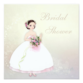 Beautiful Bride Romantic Hearts Bridal Shower Card