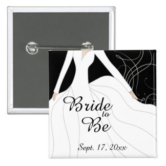 Beautiful Bride to Be 2 Inch Square Button